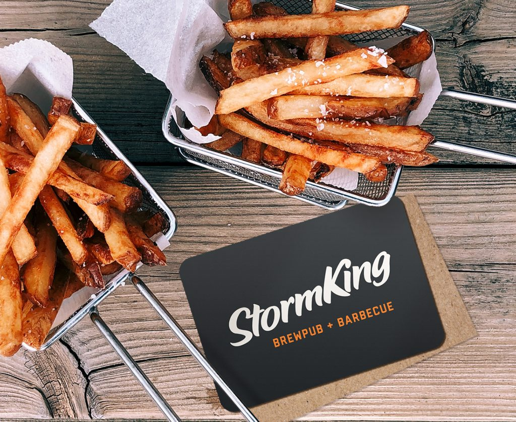 StormKing giftcard and french fries
